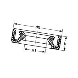 Pierścień uszczelniający wału 27,9x46,6x6,4  1-1817