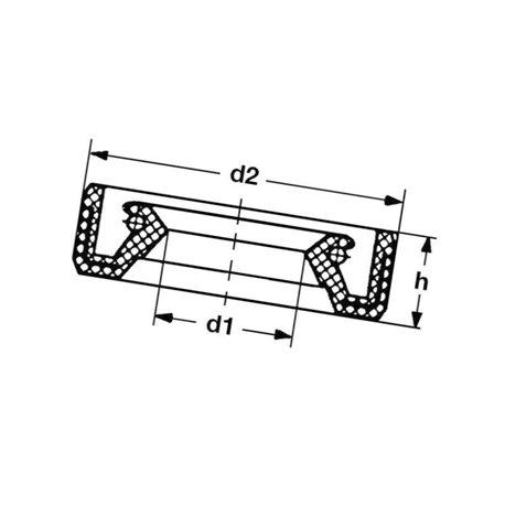 Pierśc.uszcz.wału kor.55x72x10 Lombardini 1213 338