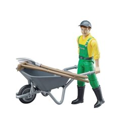 Figurka rolnika z taczką Bruder  U62610