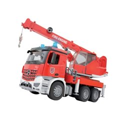 Ciężarówka Mercedes Benz dźwig straży pożarnej Bruder  U03675