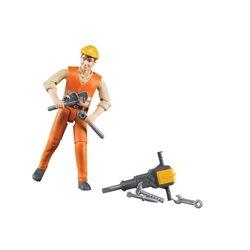 Zabawka figurka robotnika z akcesoriami Bruder  U60020