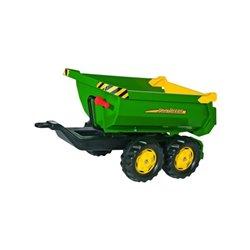 Przyczepa dwuosiowa John Deere, do ciągnika z napędem na pedały Rolly Toys  R12216
