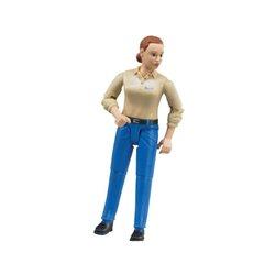 Figurka kobiety w niebieskich spodniach Bruder