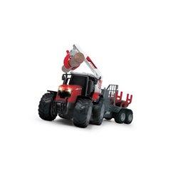 Traktor Massey Fergusson z przyczepą Fliegl Dickie