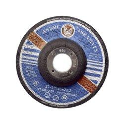 Tarcza do szlifowania stali , wypukła 115 x 6 x 22 Andre