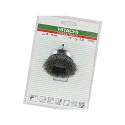 """Szczotka stalowa doczołowa trzpieniowa, 50 mm 6-kt. 1/4"""" HiKoki"""