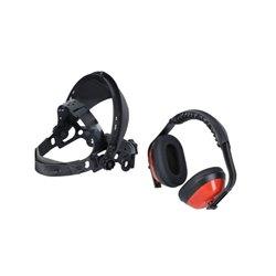 Słuchawki ochronne z osłoną na twarz