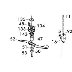 Uchwyt noża Brill 51BR, Honda, Brill 13977