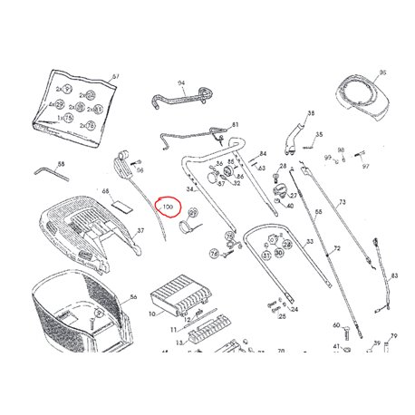 Dźwignia regulacji gazu – manetka Stiga 1117-3185-01